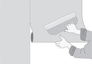 lepení vliesové fototapety na zeď