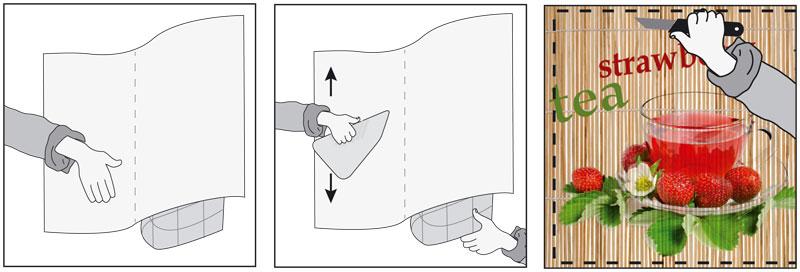 návod na lepení samolepící fototapety na lednice