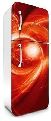 samolepicí fototapeta na lednici abstrakt - červené provedení