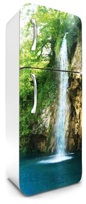 samolepicí fototapeta na lednici vodopád - barevné provedení