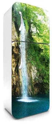 samolepicí fototapeta na lednici vodopád - efekt zrcadlení