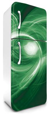 samolepicí fototapeta na lednici abstrakt - zelené provedení