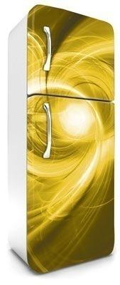 samolepicí fototapeta na lednici abstrakt - žluté provedení