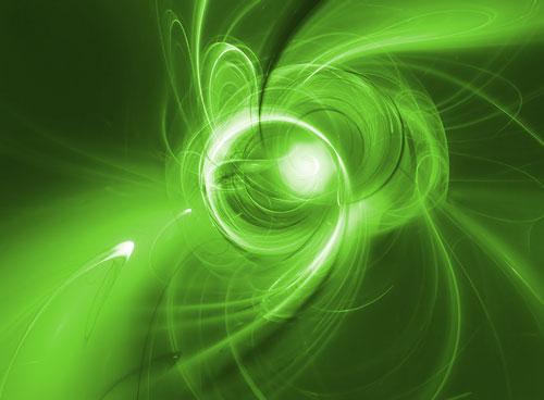 vliesová fototapeta na zeď abstrakt - zelené provedení