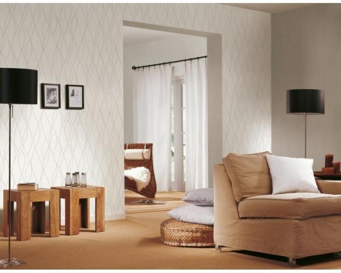 1431-12 Tapety na zeď Black and White 4 - Papírová tapeta Tapety AS Création - Simply White 4