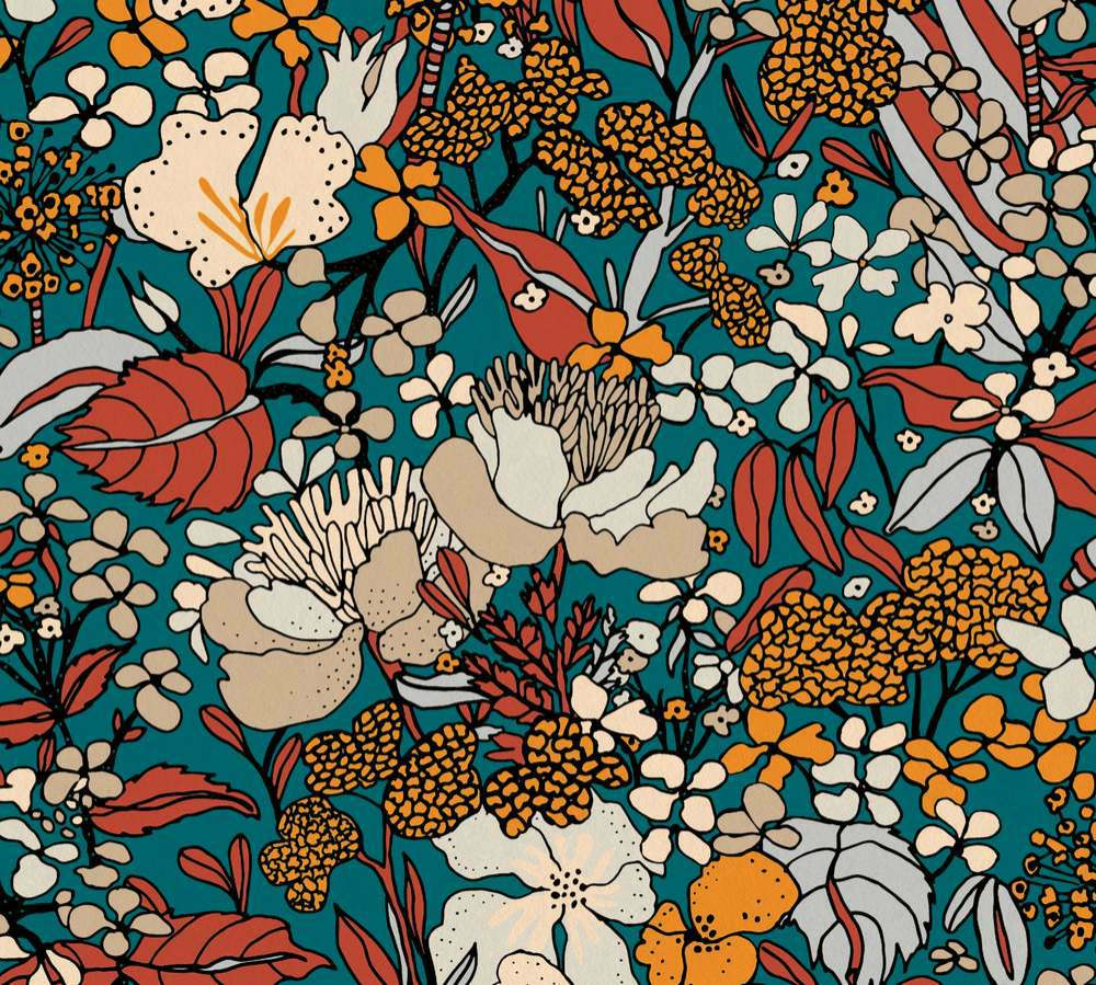 37756-2 Tapety na zeď AP Floral Impression - Vliesová tapeta Tapety AS Création - AP Floral Impression