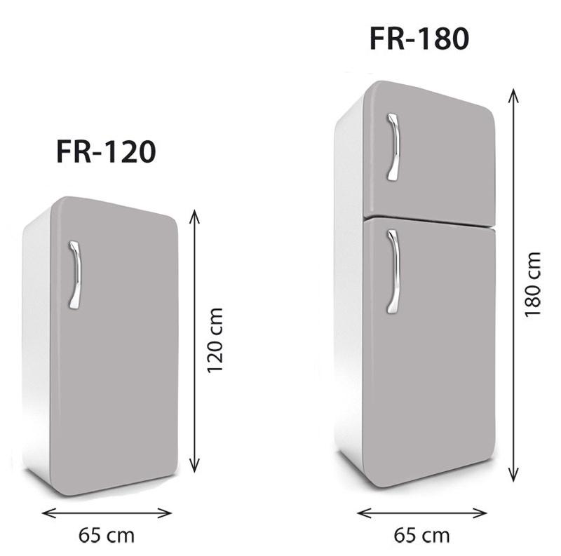 samolepící fototapeta na lednice rozměry