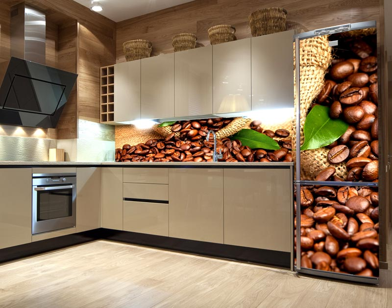samolepky do kuchyně a na lednice káva
